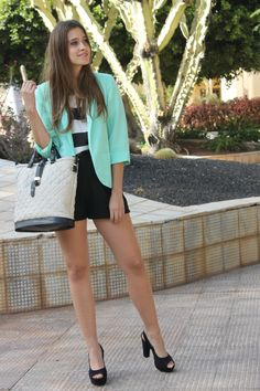mint=new favorite color plus those heels are killer