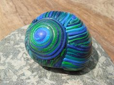 Polymer clay snail shell by Carina's Photos and Polymer Clay, via Flickr