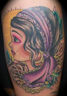 Gypsy Tattoos And Meanings-Gypsy Tattoo Designs, Ideas, And Pictures Gypsy Girl Tattoos, Boy Tattoos, Tribal Tattoos, Bodysuit Tattoos, Gypsy Tattoo Design, Tattoo Designs, Tattoo Ideas, Famous Tattoos, Makeup Tattoos