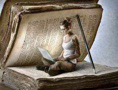 Arte do saber Book Photography, Creative Photography, Reading Art, Girl Reading, Reading Books, World Of Books, Book Nooks, I Love Books, Altered Books