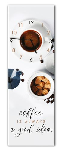 Ceas de perete Coffee 20 x 60 cm Clock, Good Things, Coffee, Deco, Tableware, Pictures, Watch, Kaffee, Photos