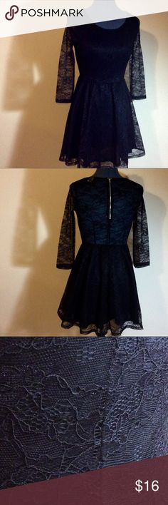 DIVIDED Lace Skater Dress Black DIVIDED Lace Skater Dress Divided Dresses