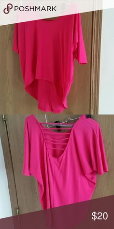 Body Central party top Never worn. Oversized and comfotable. Low in the back. Offers welcome. Body Central Tops