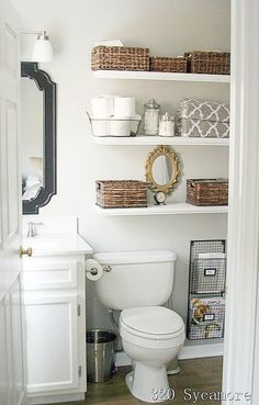 Stop disorganization in its tracks with a few simple small-bathroom storage strategies. Save space in your small bathroom with these clever tricks that will make it fashionable and functional. Check out some of the best small bathroom storage ideas for Small Space Living, Small Bathroom, Small Bathroom Organization, Bathroom Inspiration, Bathroom Organization, Bathroom Decor, Bathrooms Remodel, Bathroom Makeover, Bathroom Storage