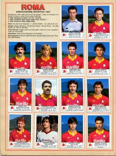 Kids Soccer, As Roma, Football Team, All Star, Paninis, Baseball Cards, Sports, Legends, Trading Cards