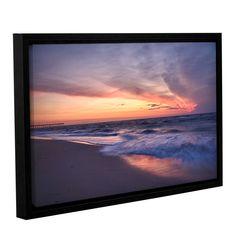 ArtWall 'Dan Wilson's Outer Banks Sunset I' Gallery Wrapped Floater-framed