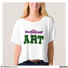 Monsters University - Art Name T Shirt. Producto disponible en tienda Zazzle. Vestuario, moda. Product available in Zazzle store. Fashion wardrobe. Regalos, Gifts. #camiseta #tshirt