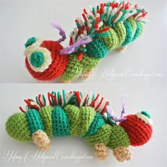 Very Hungry Caterpillar - Free Pattern.