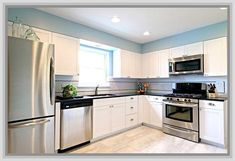 White Kitchen Cabinets With Stainless Steel Appliances Kitchen Design White Cabinets Stainless Appliances Amazing Imagery ...
