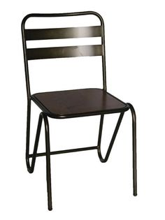 Casoni Retro Kitchen Dining Chair Black Steel Frame Oak Wood Seat Fully Assembled Price Per Pair Cafe Furniture, Restaurant Furniture, Retro Furniture, Home Office Furniture, Furniture Design, Patio Chair Cushions, Patio Chairs, Outdoor Chairs, Dining Chairs