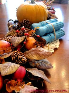 How to Decorate a Unique Fall Table - Mommy Is Coo Coo