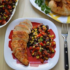 Garlic Lime Chicken and Black Bean Salad. Excellent taste! ~aw