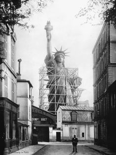 The Statue of Liberty in Paris, 1886.