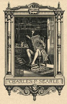 1904 bookplate of Charles P. Searle Source: Old Book Plates