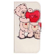 Usnjen etui I Love You za Sony Xperia XA