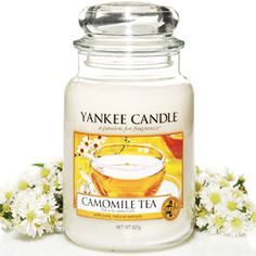 Yankee Candle Camomile Tea captures the wonderfully soothing aroma of camomile and honey, steeped with tea leaves and a touch of citrus zest.