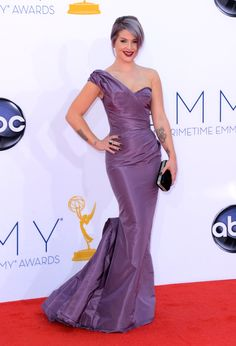 Literally head-to-toe lavender on Kelly Osbourne at the 2012 Emmys. One of several dresses!