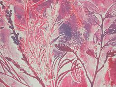 Monoprint plants by Marion Chapman Art Lessons, Illustration, Painting, Screen Printing, Abstract Artwork, Art, Monoprint, Lithography, Prints