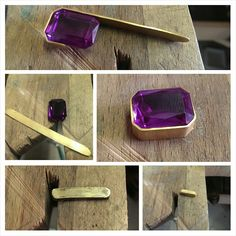 Part 2. Gold milled and bezel formed. Gold formed beautifully! #remodeing #stonesetting