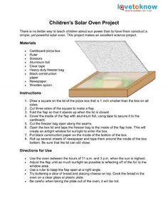 Children's Solar Oven Project
