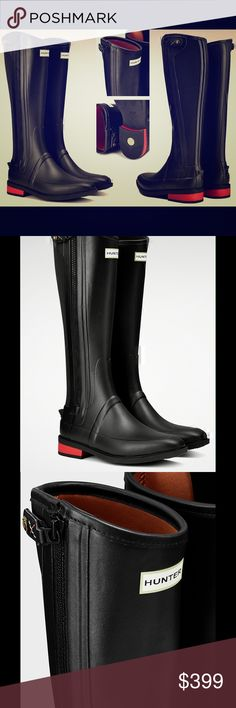 Hunter Limited Ed Wellsley Rubber Riding Boots Hunter has created a collection of rain boots to celebrate the iconic Oxford boat race event, first held in 1829. Exclusively designed, the boots are inspired by those worn by the competing crews, bearing the emblem and color of Oxford University Boat Club. Looking to iconic Hunter designs, and hand assembled on a last for exceptional fit and comfort, the vulcanised rubber boots comprise part of the Hunter Field collection and are detailed with…