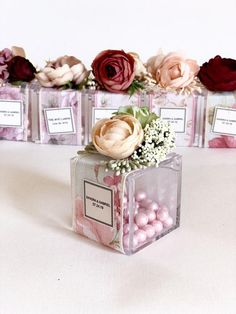 069dd02d8 10 pcs Wedding favors Favors Favors boxes Pink favors | Etsy Recuerdos  Matrimonio, Favores De