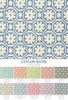 China Seas Ceylon Batik - Added March 2015