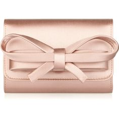 Valentino Satin bow box clutch found on Polyvore