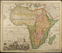 Africa Map 1700