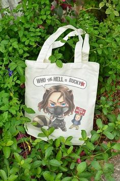 Marvel The Avengers Winter Soldier Bucky Steve Canvas Shoulder bag Tote Handbag