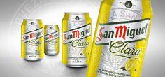 San Miguel Clara by CBA Graell #branding #packaging #design #style #logo #fresh #drink #beverage #yellow