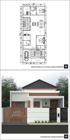 Modern Bungalow House Plans, My House Plans, House Layout Plans, Bungalow House Design, Small House Design, Small House Plans, House Layouts, Modern House Design, Home Building Design