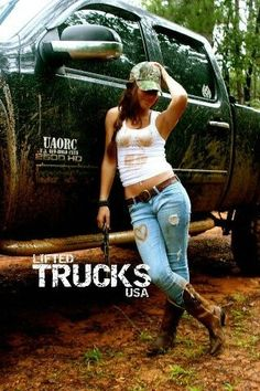 Posing with a truck, photos for him. | www.diseltees.com #dieseltees #truckgirl