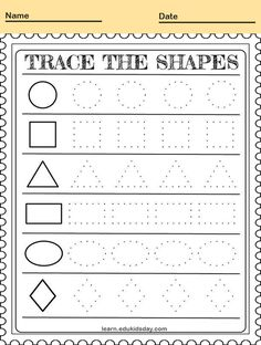 Printable Tracing Letters and Shape Handwriting for Kids #PrintableTracing preschoolers tracing letters trace shape #kids #coloring #coloringpages #coloringsheets #coloringbooks #printablecoloringpages Tracing Shapes, Number Tracing, Tracing Letters, Kids Coloring, Coloring Books, Intellectual Skills, Children's Choice, Preschool Games, Problem Solving Skills