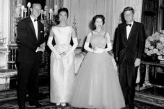 The Queen and Prince Philip with U.S. President John F. Kennedy and his wife, Jackie, in 1961.