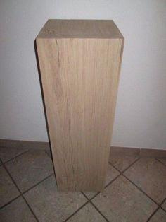 Nr.24, Holzsäule Eiche, 30cm x 30cm x 96cm Holzsäule, Stele, Holz