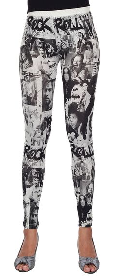 Leggings Cotton Spandex   Rock and Roll Superstars by TopCloset, $16.99