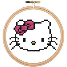 Hello Kitty Style Cross Stitch Pattern Download by spotyourcolors