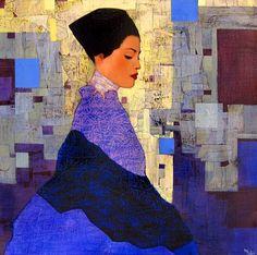 Richard Burlet, painting