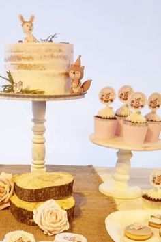 Take a look at this gorgeous woodland birthday party! Love the party food! See more party ideas and share yours at CatchMyParty.com