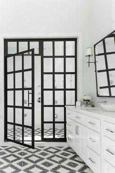 True Divided-Light Swing Door – Coastal Shower Doors