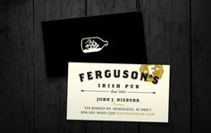 When John Ferguson passed away in the fate of his tiny, decade old Irish pub was left unsure. Eventually, old friends and fellow pub owners took over the. Beer Label Design, Logo Sign, Brand Identity Design, Brand Packaging, Logo Branding, Logos, Print Design, Graphic Design, Stationery