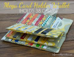 DIY Crafts | Sewing Tutorial | This mega card wallet is perfect for holding all your credit cards, gift cards, rewards, etc. Check out the sewing tutorial to make your own!