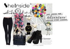 """""""Sheinside III/9"""" by zaaki ❤ liked on Polyvore featuring Fornasetti, Kate Spade, Larsson & Jennings, Leslie Danzis, River Island and Sheinside"""