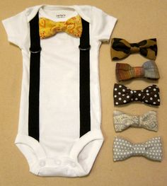 For when my friends have a baby boy, this is happening! Baby Boy Outfit - Suspender Onesie with your choice of 1 removable bow tie Baby Boy Suspenders, Suspenders Outfit, Little Babies, Cute Babies, Baby Boys, Polka Dot Bow Tie, Baby Kind, Swagg, Baby Boy Outfits