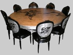 Seven Deadly Sins Table and Chairs