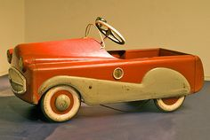 Vintage Pedal Car: I remember taking turns pedalling the pedal car at the Mitchell's house