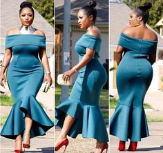 African Mermaid Bridesmaid Dresses Off Shoulders Asymmetrical Maid of Honor Gowns Plus Size Prom Party Mermaid Bridesmaid Dresses, Bridesmaid Dresses Plus Size, Bride Dresses, 50s Dresses, Short Dresses, African Attire, African Dress, Looks Plus Size, Party Gowns