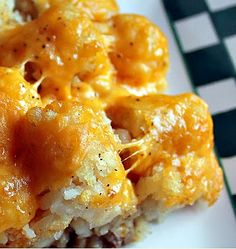 tater tot casserole - cooking this for the guys on the oil rig even though they're assholes and they don't deserve it (we're leaving today and that makes me feel much better :)