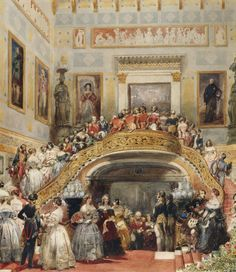 Eugene Louis Lami, Grand Staircase at Buckingham Palace State Ball, 1848